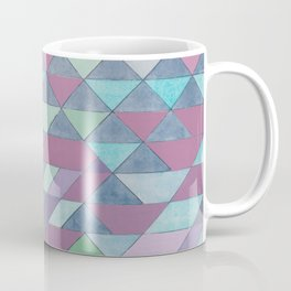 Triangle Pattern no.3 Violet Coffee Mug