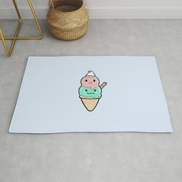 Cute Ice Cream Kawaii Rug