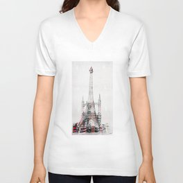 Noon of Eiffel tower Unisex V-Neck