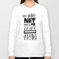 internet Long Sleeve T-shirts featuring Internet Envy by Chris Piascik