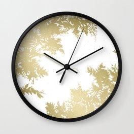 Night's Sky Gold Wall Clock