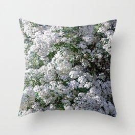 spiraea Throw Pillow