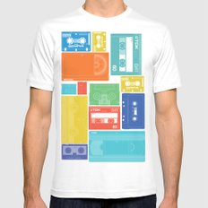 Cassette Heaven White Mens Fitted Tee MEDIUM