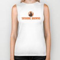 nfl Biker Tanks featuring Tattooine Browns - NFL by Steven Klock