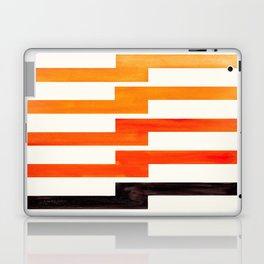 Orange & Black Geometric Minimal Mid Century Modern Lightning Bolt Pattern Watercolor Art Laptop & iPad Skin