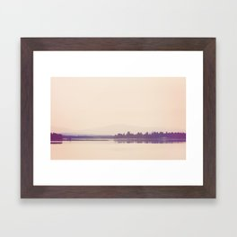 Nostalgic Lake Framed Art Print