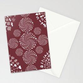 Merlot Love Symbol Mandala Stationery Cards