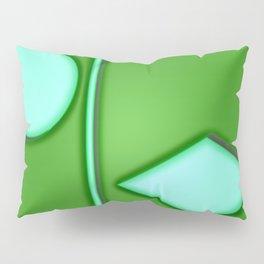 Green lights Pillow Sham