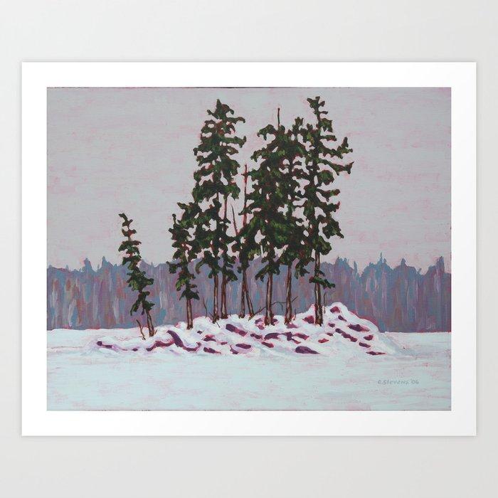 Frozen Island, Algonquin Park Art Print