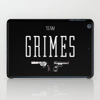 rick grimes iPad Cases featuring Team Grimes by Dorothy Leigh