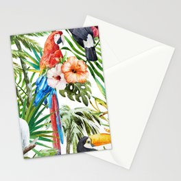 Tropical Bird Pattern 06 Stationery Cards