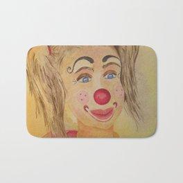 Ficelle à l'aquarelle, clown Bath Mat