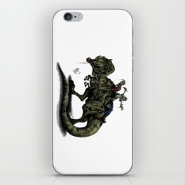 Zombies Riding a Trex iPhone Skin