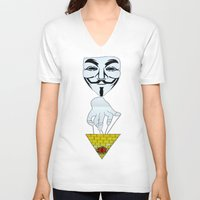 anonymous V-neck T-shirts featuring Anonymous by Edgar Huaracha