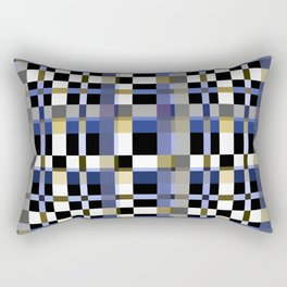Blue brown plaid Rectangular Pillow
