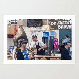 Atwater Market Brass Band Art Print