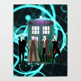 The Doctors And Tardis Poster
