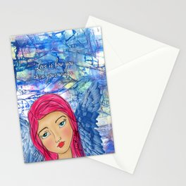 Angels with us Stationery Cards