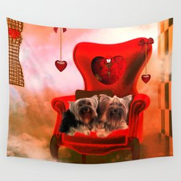 Cute little Yorkshire Terrier Wall Tapestry