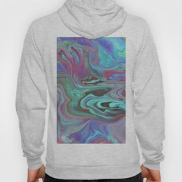 Fluid Nature - Blue Lava - Abstract Acrylic Pour Art Hoody