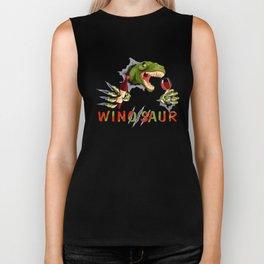 wino saur drink strong animal green wine Biker Tank
