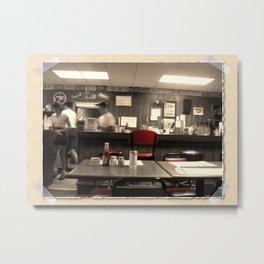 The Diner Metal Print