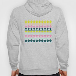 Triangle Pattern in Cheerful Bright Holiday Colors Hoody