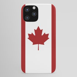 Canada: Canadian Flag (Red & White) iPhone Case