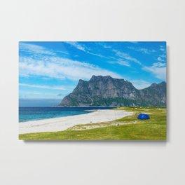 Beach on the Lofoten Island Metal Print
