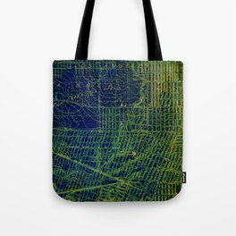 Holywood old map year 1924 green art print Tote Bag