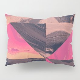Triangular Magma Pillow Sham