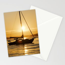 Sunset Escape Boat Stationery Cards