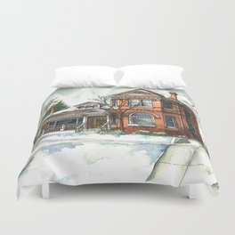 Victorian House in The Avenues Duvet Cover
