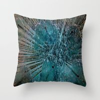 games Throw Pillows featuring Water games by  Agostino Lo Coco