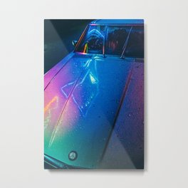 Neon Car Metal Print
