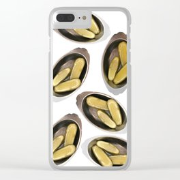 Delightful Deli Pickle Pattern From New York City Clear iPhone Case