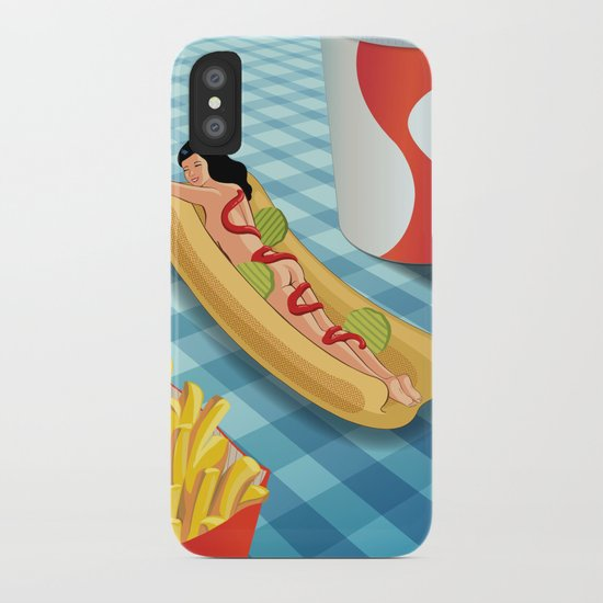 Hot Dog Girl iPhone Case