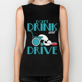"Stay alert and avoid chances of accidents with this awesome tee with text ""Don't Drink And Drive"" Biker Tank"