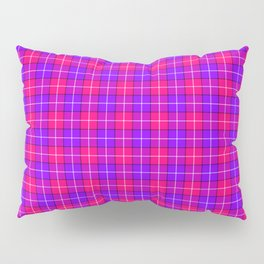 Crazy Pink and Purple Plaid Pillow Sham