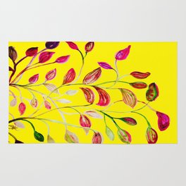 Red and Green Leaves! Yellow Sunshine! Rug