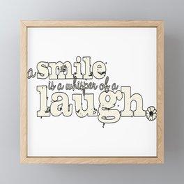Smile And Laugh Framed Mini Art Print