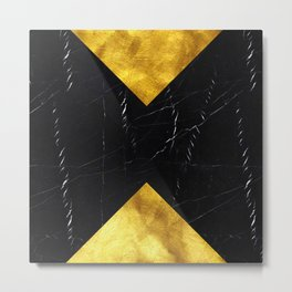 Black and Gold Marble Edition 1 Metal Print