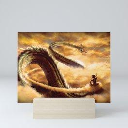 Goku and Shenron Mini Art Print
