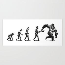 Bowling Evolution Art Print