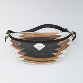 Urban Tribal Pattern No.5 - Aztec - Concrete and Wood Fanny Pack