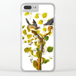 Loggerhead Shrike Bird Clear iPhone Case