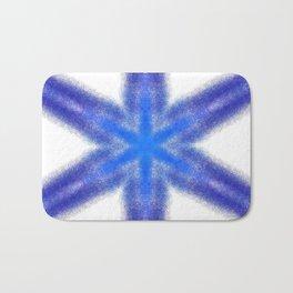 blue pattern Bath Mat