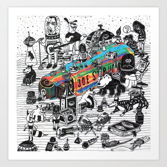GLOBAL A GO-GO Art Print