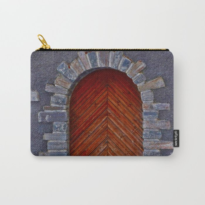 Wood Door Carry-All Pouch