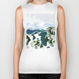 green mountains Biker Tank